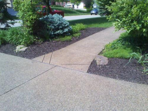 aggregate sidewalk in Indianapolis Indiana