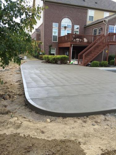 brushed concrete patio  in Indianapolis