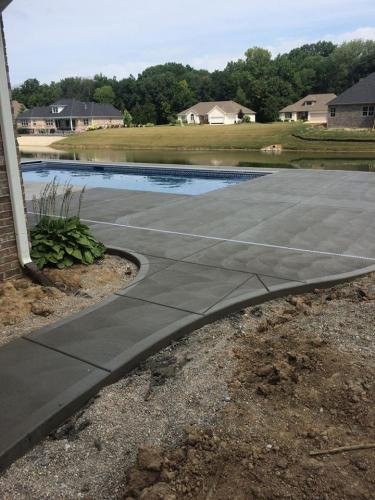 brushed concrete pool deck Indianapolis IN