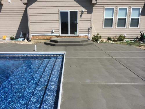 concrete patio in Indianapolis by C & R Concrete